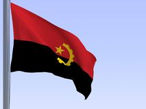 angola flaga Fotografia Royalty Free