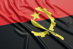 Angola flaga Fotografia Stock