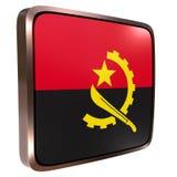 Angola flaga ikona Fotografia Royalty Free