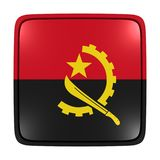 Angola flaga ikona Obraz Royalty Free
