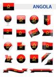 Angola flaga wektoru set Obraz Royalty Free