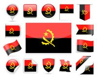 Angola flaga wektoru set Zdjęcie Stock