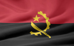 angola flagga stock illustrationer