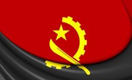 angola flagga royaltyfri illustrationer