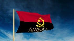 Angola-Flaggenschieberart mit Titel Wellenartig bewegen in lizenzfreie abbildung