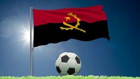 Angola futbolu i trzepotać chorągwiane rolki
