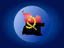 Angola globe illustration. Map and flag of Angola globe illustration Stock Images