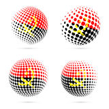 Angola halftone flaga ustalony patriotyczny wektorowy projekt ilustracja wektor