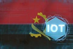 Angola IOT (internet rzeczy) IOT nowożytny pojęcie Obrazy Royalty Free