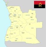 Angola mapa Fotografia Stock