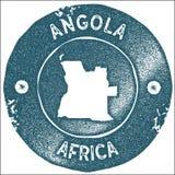 Angola mapy rocznika znaczek royalty ilustracja
