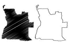 Angola mapy wektor Obraz Stock