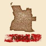 Angola martwił mapę Zdjęcia Stock