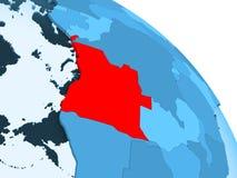 Angola na błękitnej kuli ziemskiej royalty ilustracja