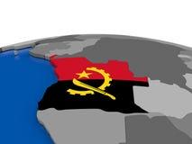 Angola na 3D kuli ziemskiej Obrazy Stock