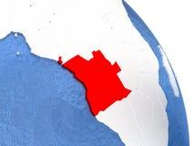 Angola na eleganckiej kuli ziemskiej Fotografia Stock