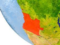 Angola na kuli ziemskiej ilustracja wektor