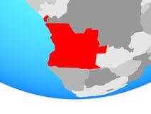 Angola na kuli ziemskiej royalty ilustracja