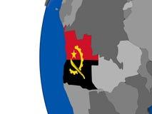 Angola na kuli ziemskiej Obraz Royalty Free
