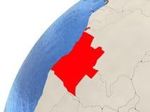 Angola na kuli ziemskiej Obrazy Royalty Free