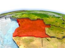 Angola na kuli ziemskiej Fotografia Stock