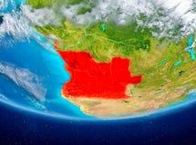 Angola na kuli ziemskiej od przestrzeni Zdjęcie Royalty Free