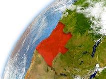 Angola na modelu planety ziemia royalty ilustracja