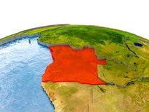 Angola na modelu ziemia Fotografia Royalty Free