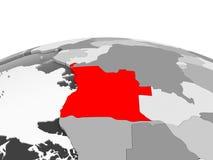 Angola na popielatej kuli ziemskiej Obrazy Royalty Free