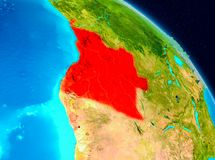 Angola na ziemi Fotografia Royalty Free
