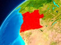 Angola na ziemi od przestrzeni Obraz Stock