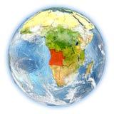 Angola na ziemi odizolowywającej Fotografia Stock