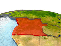 Angola na ziemi w czerwieni Obraz Stock