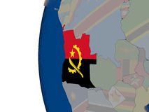 Angola with national flag Royalty Free Stock Photography