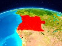 Angola od orbity royalty ilustracja