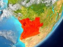 Angola od przestrzeni Zdjęcia Stock