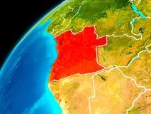 Angola od przestrzeni Obrazy Royalty Free