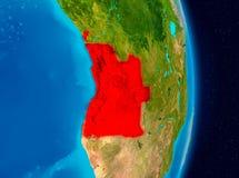Angola od przestrzeni Zdjęcie Stock