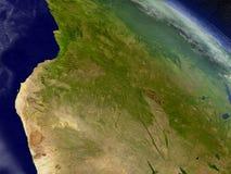 Angola od przestrzeni Obrazy Stock