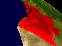 Angola od przestrzeni Fotografia Stock