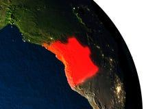 Angola od przestrzeni Fotografia Royalty Free