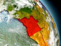 Angola od przestrzeni Zdjęcie Royalty Free