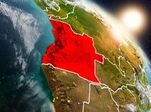 Angola od przestrzeni podczas wschodu słońca Zdjęcie Royalty Free