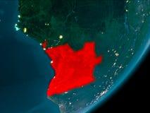 Angola od przestrzeni przy nocą Zdjęcie Stock