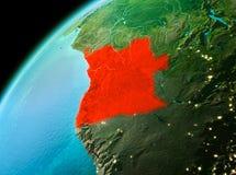 Angola od przestrzeni w wieczór Zdjęcie Royalty Free