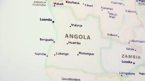 Angola op een Kaart stock videobeelden