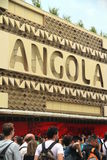 Angola Pavilion. And crowd of visitors at the 2015 Expo in Milan, Italy Royalty Free Stock Image