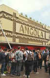 Angola Pavilion. And crowd of visitors at the 2015 Expo in Milan, Italy Stock Images