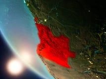 Angola podczas zmierzchu na ziemi Obraz Royalty Free