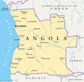 Angola polityczna mapa Fotografia Royalty Free